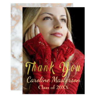 Customizable Graduation Thank You Card