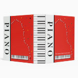 "Customizable Grand Piano 2"" Binder"