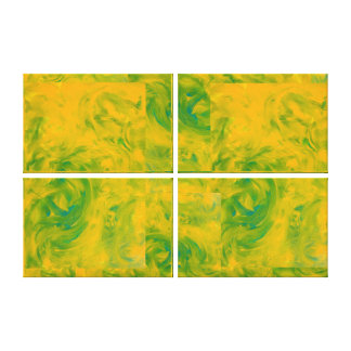 Customizable Green and Gold Decor Fine Art Print Stretched Canvas Prints