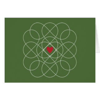 Customizable Green and White Infiniti Love Card