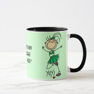 Customizable Green Cheerleader Mug
