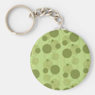 Customizable Green Dots Basic Round Button Keychain