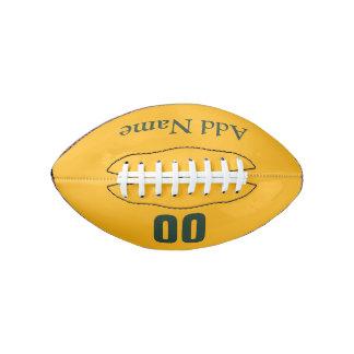 Customizable Green/Gold Mini Football