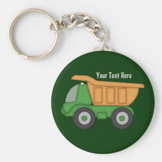 Customizable Green Truck Basic Round Button Keychain