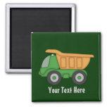 Customizable Green Truck Refrigerator Magnet