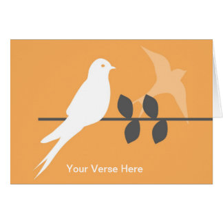 Customizable Greeting Card-Swallows in the Orchard Card