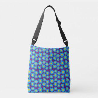 Customizable Groovy Daisies Crossbody Bag