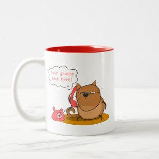 Customizable Grumpy Cat Two-Tone Coffee Mug