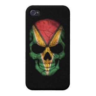 Customizable Guyanese Flag Skull iPhone 4 Case