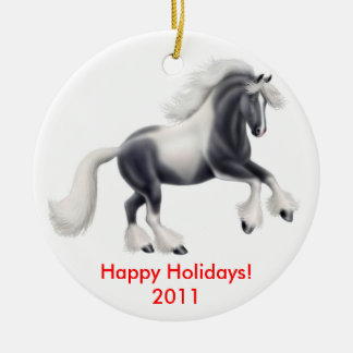 Customizable Gypsy Horse Ornament