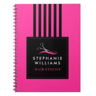 Customizable Hair Stylist Note Book