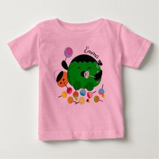 Customizable Halloween - Frankenstein and Candies Baby T-Shirt