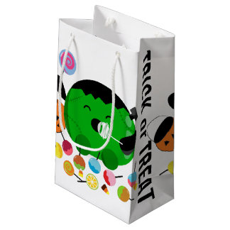 Customizable Halloween - Frankenstein and Candies Small Gift Bag