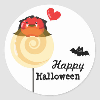Customizable Halloween - Mochi Candy Lovers Classic Round Sticker