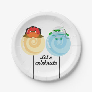 Customizable Halloween - Mochi Candy Lovers Throw Paper Plate