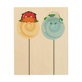 Customizable Halloween - Mochi Candy Lovers Wood Print