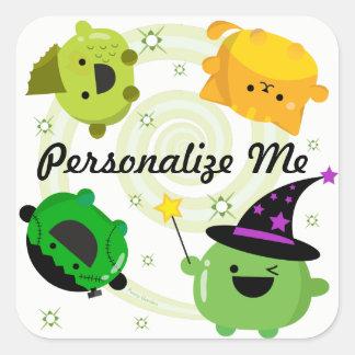 Customizable Halloween - Mochi Witch Hocus Pocus Square Sticker