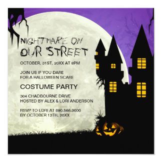 Customizable Halloween Party Invitation