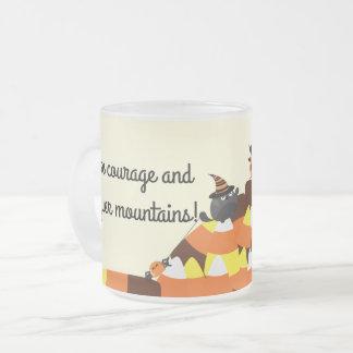 Customizable Halloween - Pirate Courage Frosted Glass Coffee Mug