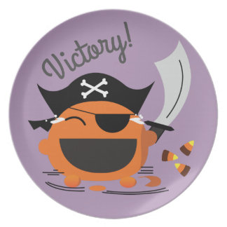 Customizable Halloween - Pirate Courage Plate