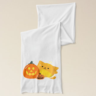 Customizable Halloween - Pumpkin Cat Scarf