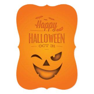 Customizable Halloween Pumpkin Invitation Card
