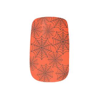 Customizable Halloween Spider Webs Nail Wrap