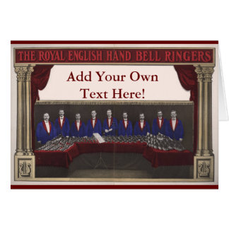 Customizable Hand Bell Greeting Card