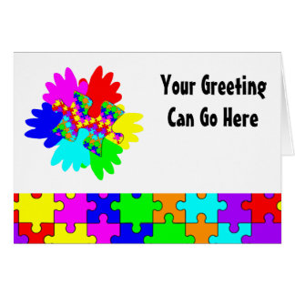 Customizable Hands And Puzzling Puzzle Piece Card