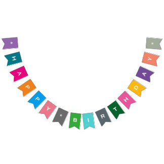 Customizable Happy Birthday Colourful Party Banner
