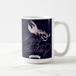Customizable Happy Birthday Phoenix Bird Mug