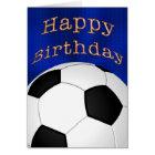 Customizable Happy Birthday Soccer Cards