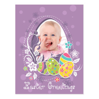 Customizable Happy Easter greeting Postcard