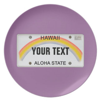 (Customizable) Hawaii License Plate