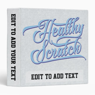 Customizable Healthy Scratch Ice Hockey Binder