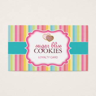 Customizable Heart Cookie Loyalty Cards