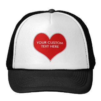 Customizable Heart Hat