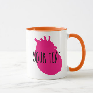 Customizable Heart Mug