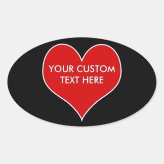 Customizable Heart Stickers