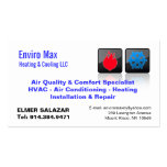 CUSTOMIZABLE Heating & Cooling BC Pack Of Standard Business Cards