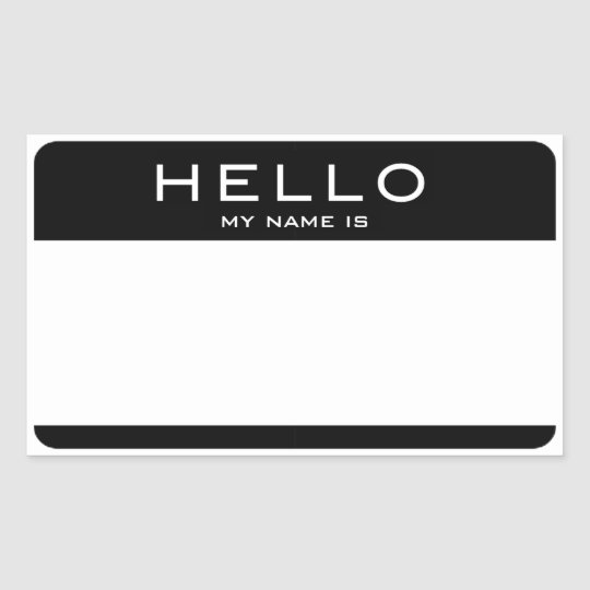 Customizable HELLO MY NAME IS Name Tag Stickers