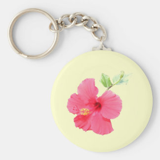 Customizable Hibiscus Keychain