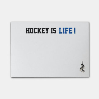 Customizable Hockey is Life Post It's Post-it Notes