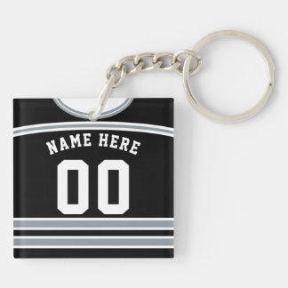 Customizable Hockey Jersey Keyring, Lacrosse Keychain