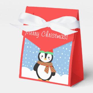 Customizable Holiday Penguin Wedding Favor Box