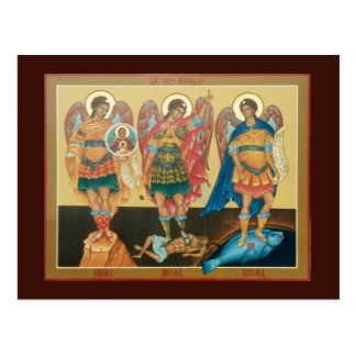 Customizable Holy Archangels Postcard