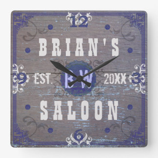 Customizable Home Bar Beer Saloon Square Wall Clock