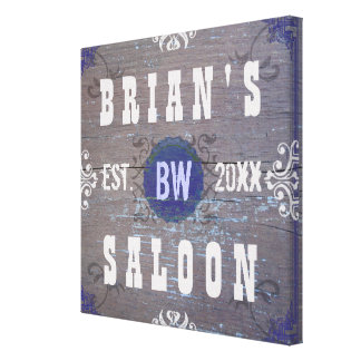 Customizable Home Bar Beer Saloon Stretched Canvas Print