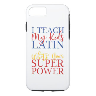 CUSTOMIZABLE Homeschool Latin Superhero iPhone 8/7 Case