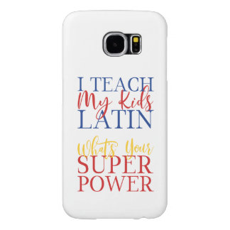 CUSTOMIZABLE Homeschool Latin Superhero Samsung Galaxy S6 Cases